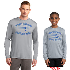SUGAR SALEM JR HIGH TRACK – Moisture-Wicking Long Sleeve Tee (Silver Grey)