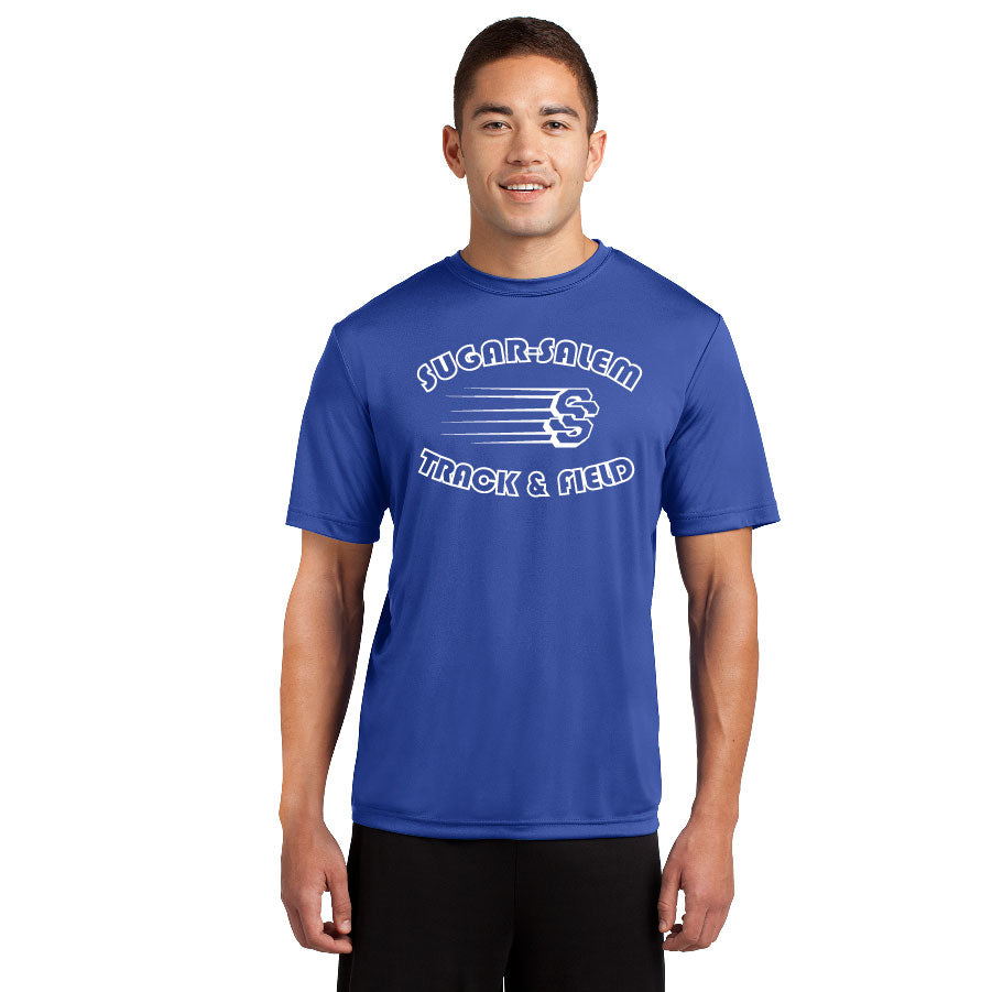 SUGAR SALEM JR HIGH TRACK – Moisture-Wicking Competitor Tee (Royal)