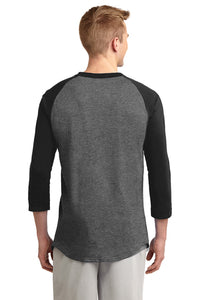 IF LAX – Colorblock Raglan Jersey Tee (Dark Heather Grey/Black)