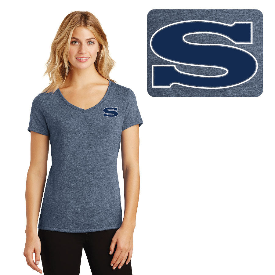 SKYLINE HS BASEBALL – Women's Perfect Tri V-Neck Tee (Navy Frost)