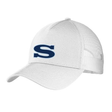 SKYLINE HS BASEBALL – Mesh Back Cap (White/White)