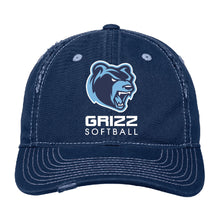 Load image into Gallery viewer, SKYLINE HS SOFTBALL – Rip & Distressed Cap (Navy)