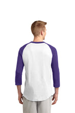 Load image into Gallery viewer, CENTURY HS – Teal D-Back Head Colorblock Raglan Jersey (Purple/White)