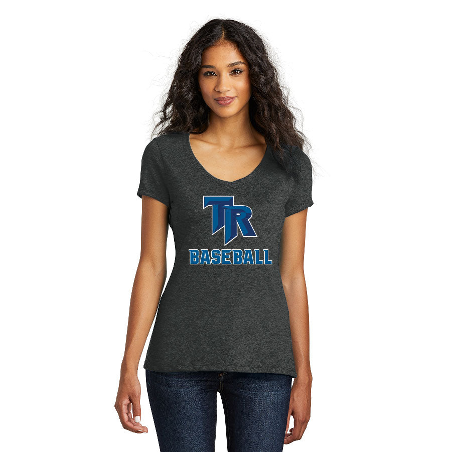 TRHS BASEBALL – Women's Perfect Tri V-Neck Tee (Black Frost)