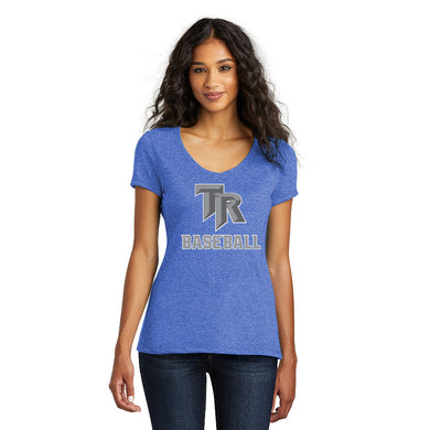 TRHS BASEBALL – Women's Perfect Tri V-Neck Tee (Royal Frost)
