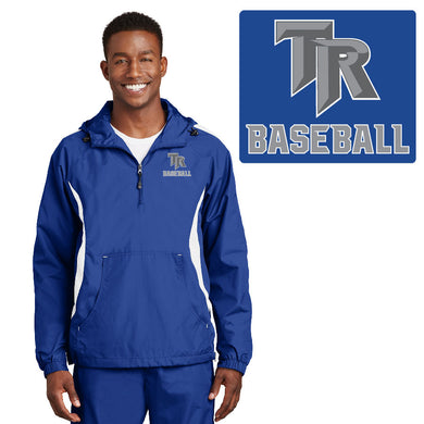 TRHS BASEBALL – Colorblock Raglan Anorak (True Royal/White)