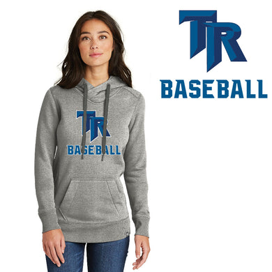 TRHS BASEBALL – Ladies French Terry Pullover Hoodie (Light Graphite Twist)