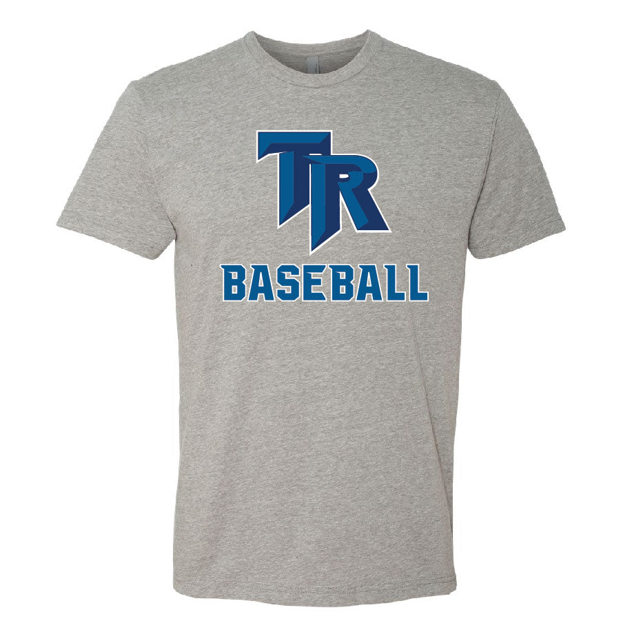 TRHS Baseball – Next Level Fitted Crew Tee (Heather Grey)