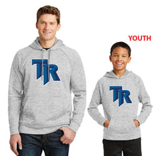 Load image into Gallery viewer, TRHS BASEBALL – Moisture-wicking Fleece Hooded Pullover (Silver Electric)