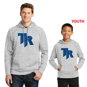 TRHS BASEBALL – Moisture-wicking Fleece Hooded Pullover (Silver Electric)