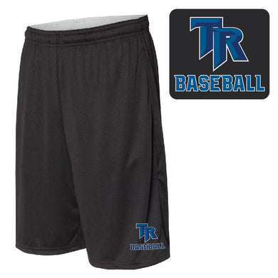 TRHS BASEBALL – 10-in. Shorts with Pockets (Black)