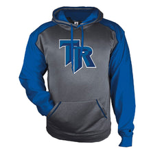 Load image into Gallery viewer, TRHS SOFTBALL – Sport Heather Unisex Hood (Charcoal Heather/Royal)