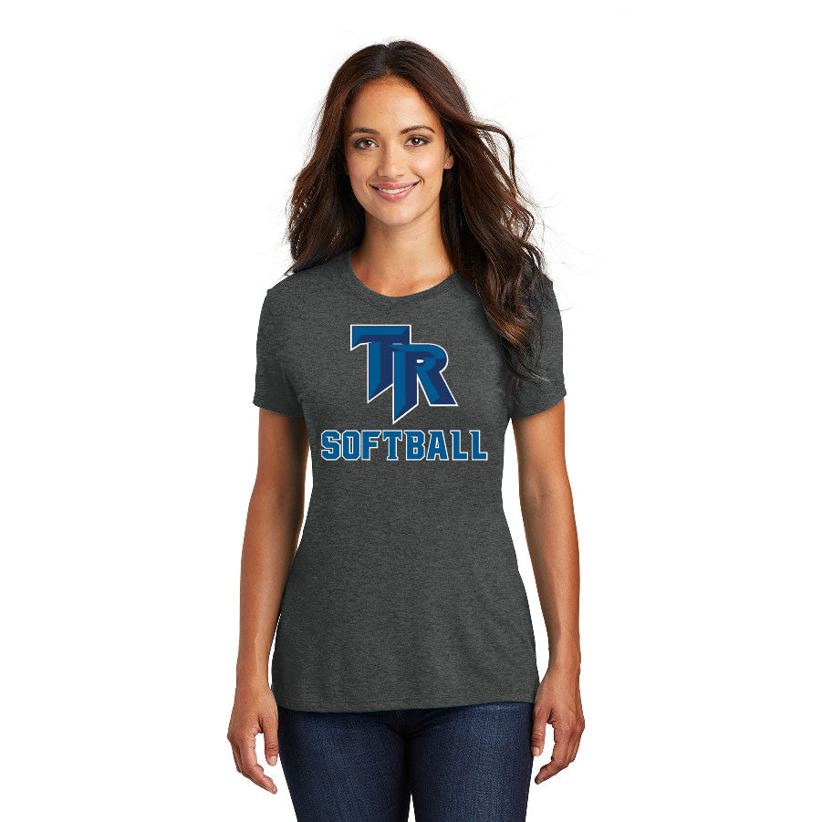TRHS SOFTBALL – Women's Perfect Tri Tee (Black Frost)