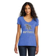 Load image into Gallery viewer, TRHS SOFTBALL – Women's Perfect Tri V-Neck Tee (Royal Frost)