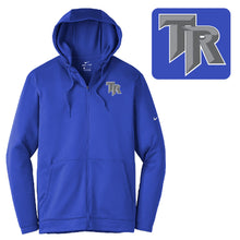 Load image into Gallery viewer, THUNDER RIDGE HS – NIKE Therma-FIT Full-Zip Fleece Hoodie (Royal)