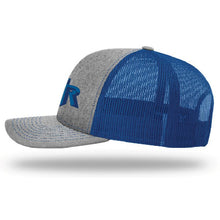 Load image into Gallery viewer, TRHS SOFTBALL – Richardson Twill Trucker Mesh Snapback Cap (Heather Grey/Royal)
