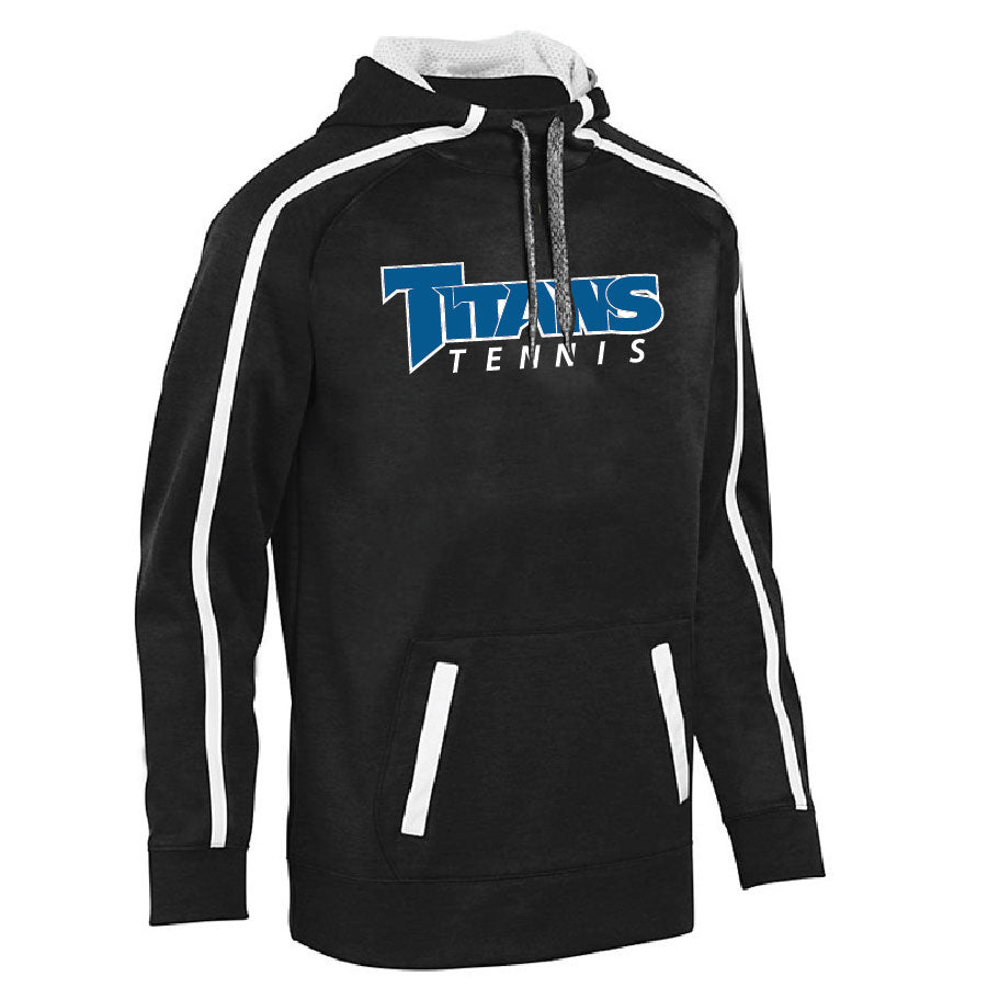 TRHS TENNIS – 5554 – Hooded Sweather with Stripe (Black/White)
