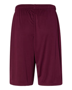RIGBY HS BASEBALL – 10-in. Shorts with Pockets (Maroon)