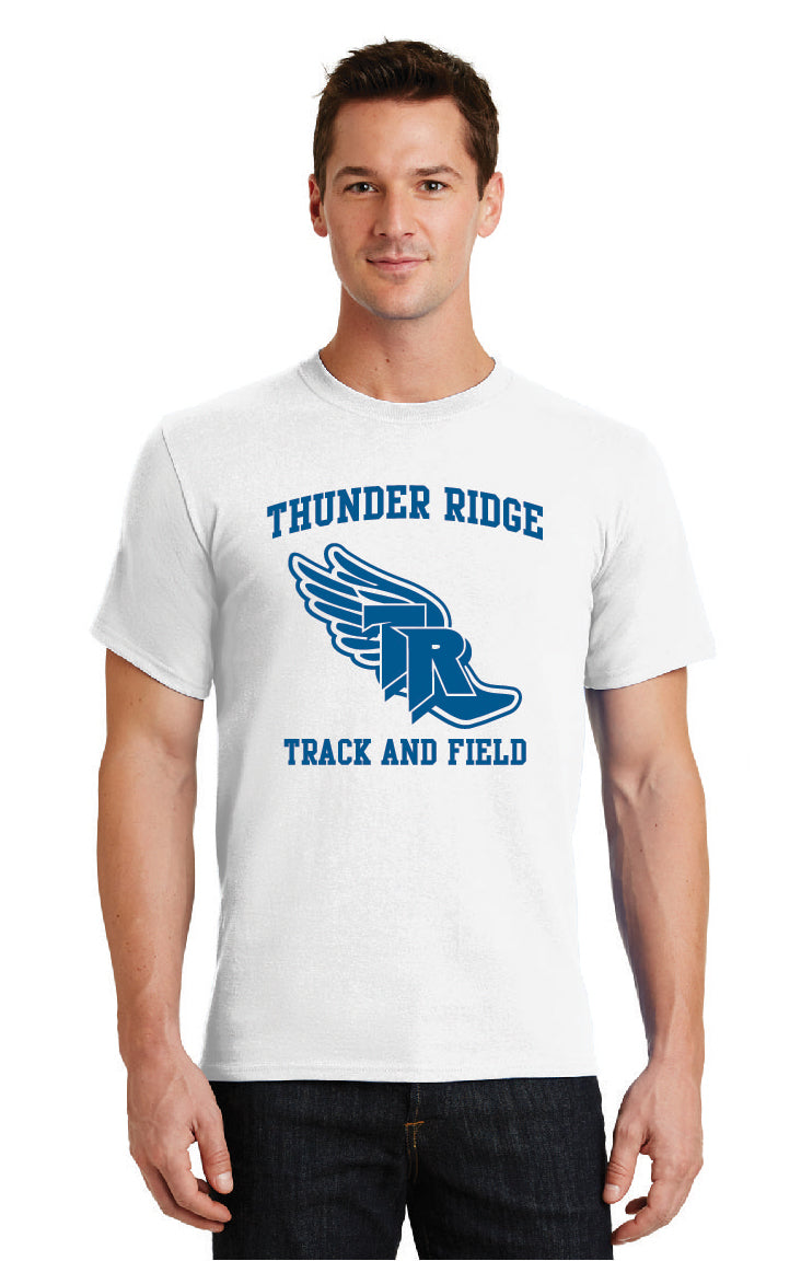 Thunder Ridge HS Track – 50/50 White Tee