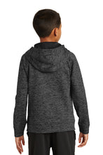 Load image into Gallery viewer, IF LAX – Youth Moisture-Wicking Electric Heather Fleece Hooded Pullover (Grey-Black)