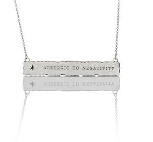 "Collana Otto Message ""Allergic to negativity"""