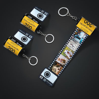 Custom Pet Film Roll Keychain, Memorial Keychain from Pet Photo - The Pet Pillow