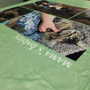 Custom Photo Blankets Personalized Custom Collage Blankets with 4 Photos, Mother's Day Sale - The Pet Pillow
