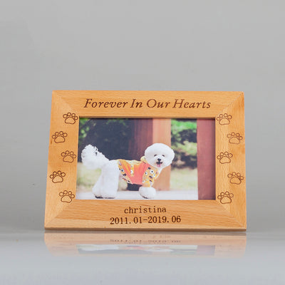 Custom Pet Memorial Photo Frame - The Pet Pillow