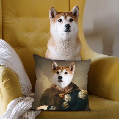 Custom Pet Renaissance Photo Square Pillow - The Pet Pillow