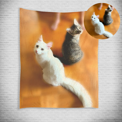 Custom Pet Print Fleece Blanket from Your Original Pet Photo - The Pet Pillow