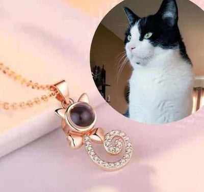 Custom Cat Shape Projection Necklace - The Pet Pillow