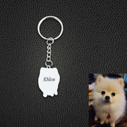 Personalized Pet Shaped Keychain as Memorial Gift for Loss of Pet