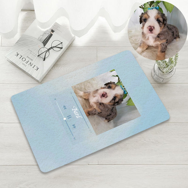 Custom Pet Song Playing Rug with Your Pet Photo and Quotes - The Pet Pillow