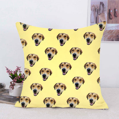 Custom Pet Multi Face Square Pillow Double Sided Printing - The Pet Pillow