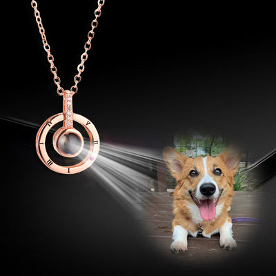 Custom Ring Style Pet Projection Necklace - The Pet Pillow