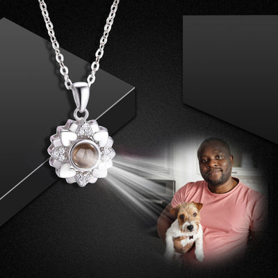 Custom Pet Sunflower Projection Necklace - The Pet Pillow