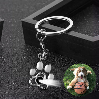 Custom Pet Projection Memorial Keychain with Your Pet Photo as Gift for Loss of Pet - The Pet Pillow