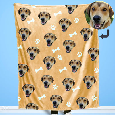 Customized Pet Multi-Head Blanket with Bones - The Pet Pillow
