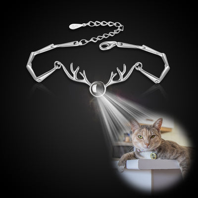 Antler Shape Custom Pet Projection Bracelet - The Pet Pillow