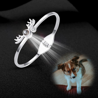 Adjustable Antler Shape Custom Pet Projection Bracelet - The Pet Pillow