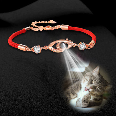 Eye Shaped Custom Pet Projection Bracelet - The Pet Pillow