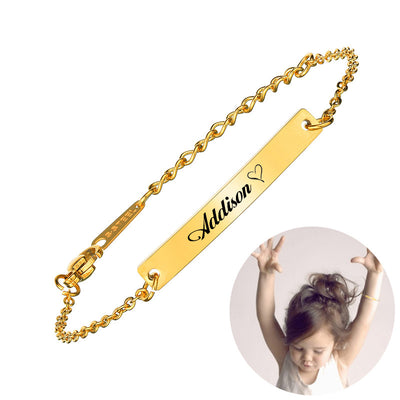 Custom Pet Name Bar Engraved Bracelet - The Pet Pillow