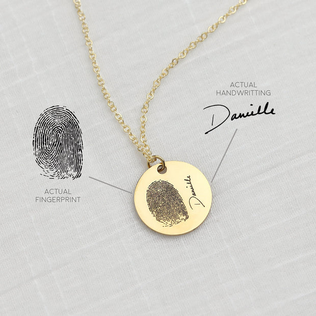 Personalized Custom Fingerprint Necklace Handwriting-925 Sterling Silver - The Pet Pillow