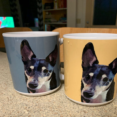 Cute Custom Pet Photo Coffee Mug 11oz - The Pet Pillow