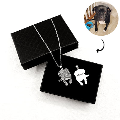 Custom Pet Necklace lookalike Your Pet Shape - 925 Sterling Silver - The Pet Pillow