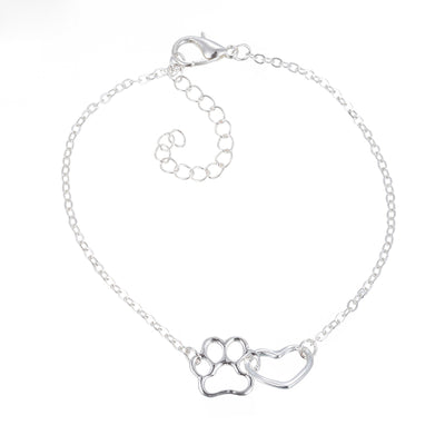 Cute Heart Paw Pet Pendant Bracelet Charm Chain Jewelry For Women Gift - The Pet Pillow