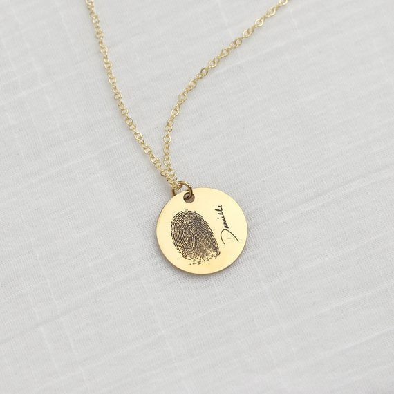 Custom Fingerprint/PawPrint Necklace Handwriting-925 Sterling Silver - The Pet Pillow