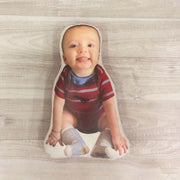 Customized Face Photo Pillow, Pillow look like Dad's Face, gift for mom and dad - The Pet Pillow
