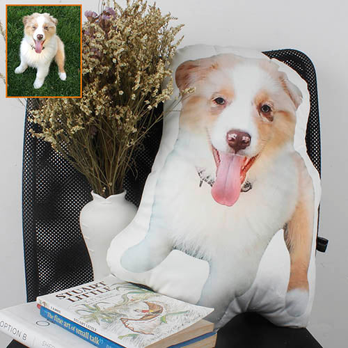 Custom Puppy Picture Shaped Pillow, Make your Pet into a Pillow - The Pet Pillow