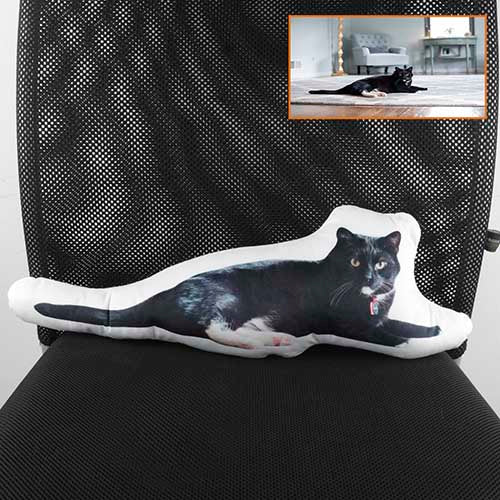 Custom Cat Photo Pillow, Cat Shaped Pillow, Cat Memorial Personalized Pillow, Great Mother's Day Gift Ideas for Pet Lovers - The Pet Pillow